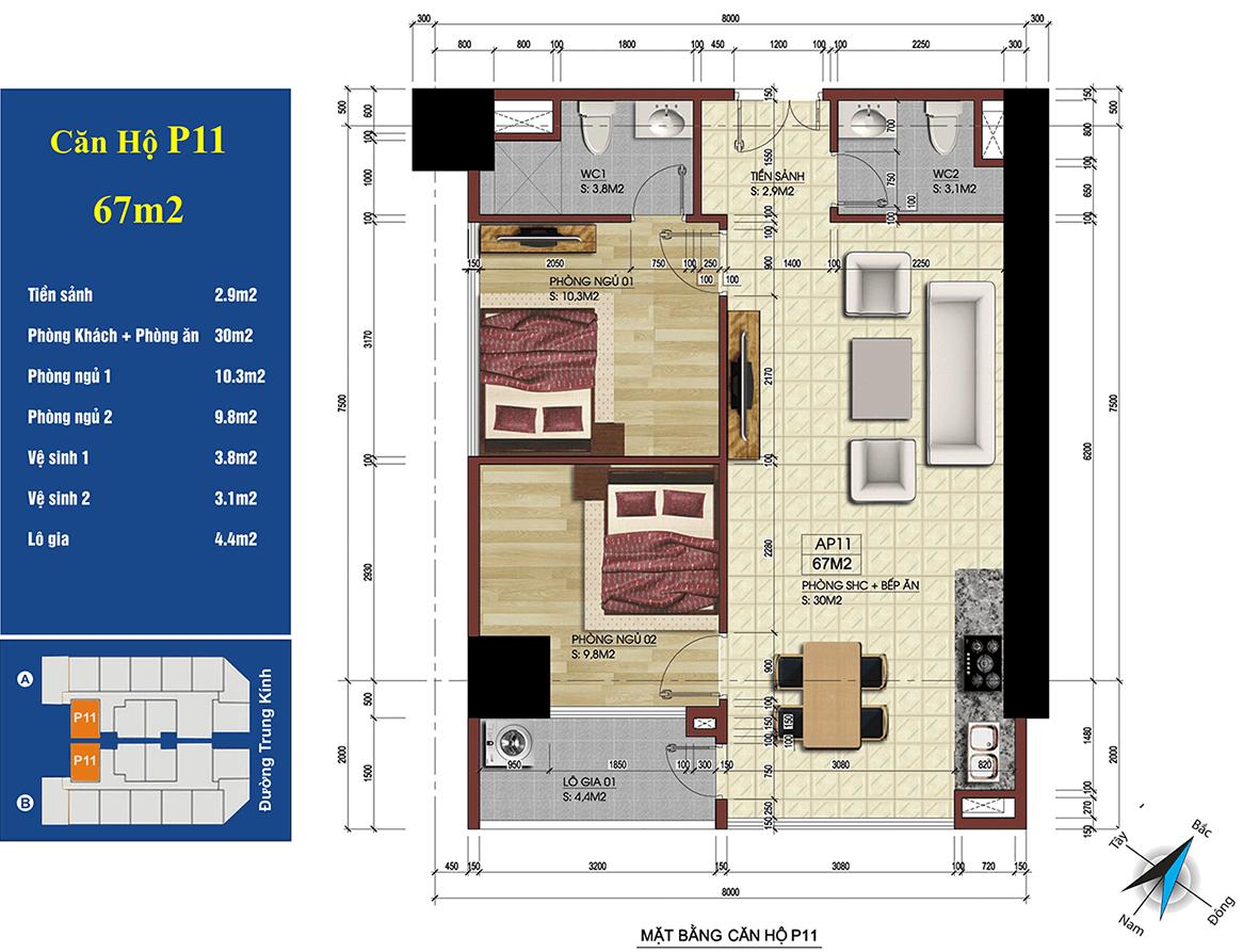 căn 11 chung cư 219 trung kính