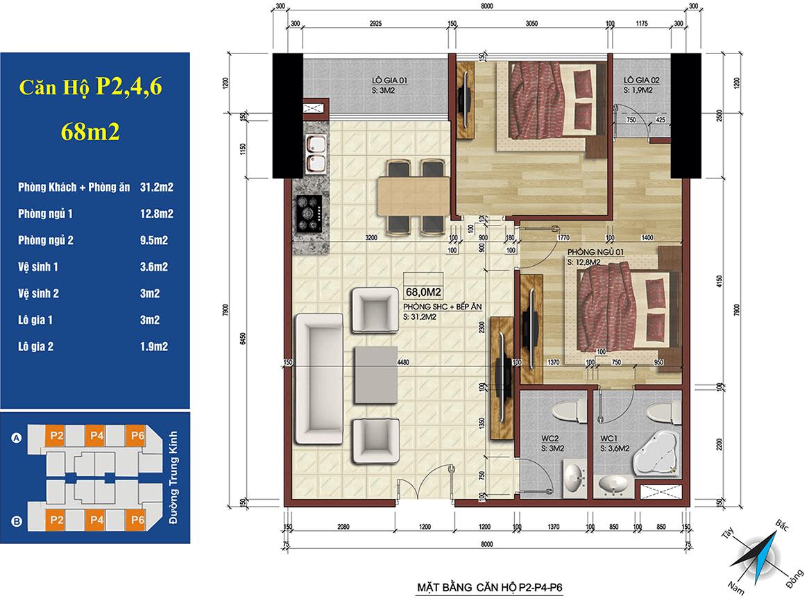 căn 2,4,6 chung cư 219 trung kính