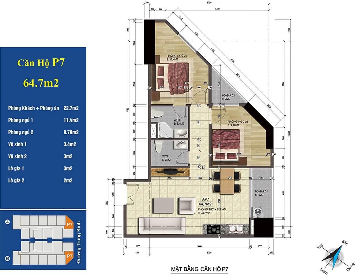 căn 07 chung cư 219 trung kính