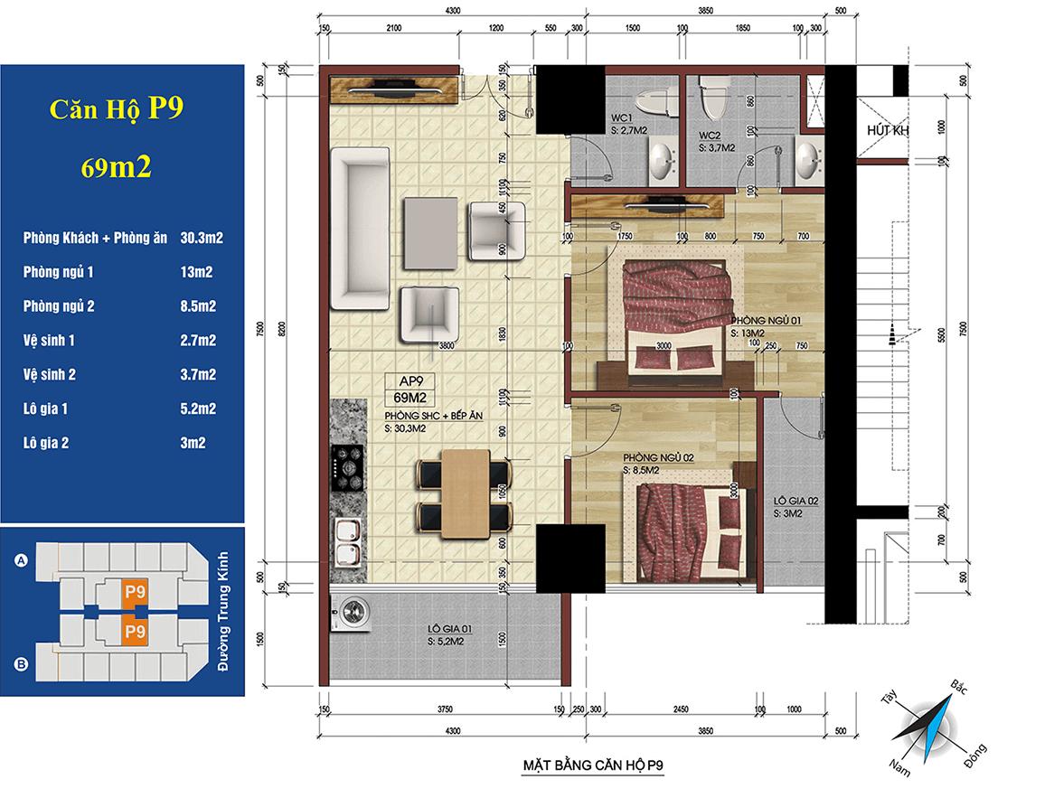 căn 09 chung cư 219 trung kính