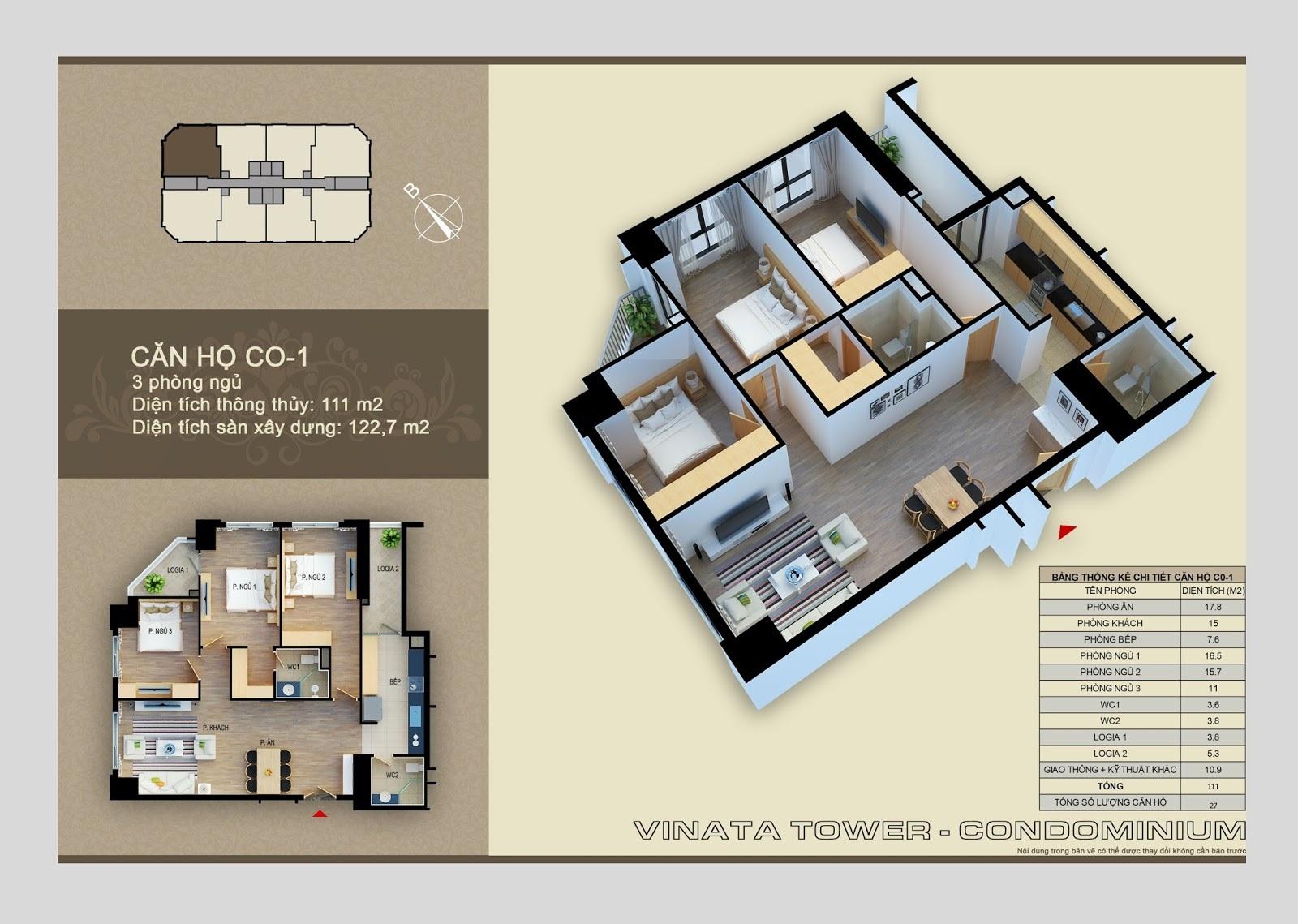 chung cư vinata towers căn số 1