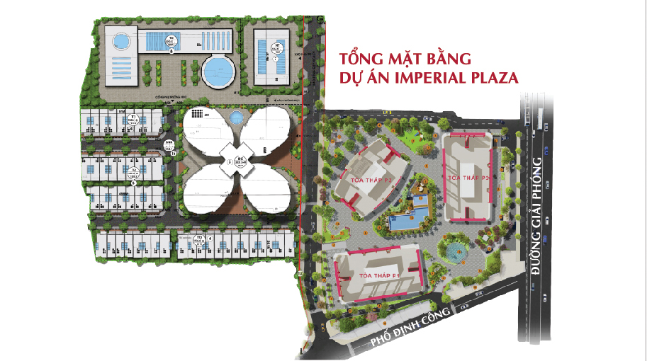 mặt bằng tổng thể imperial plaza