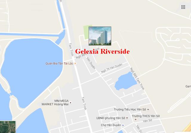 vị trí chung cư gelexia riverside