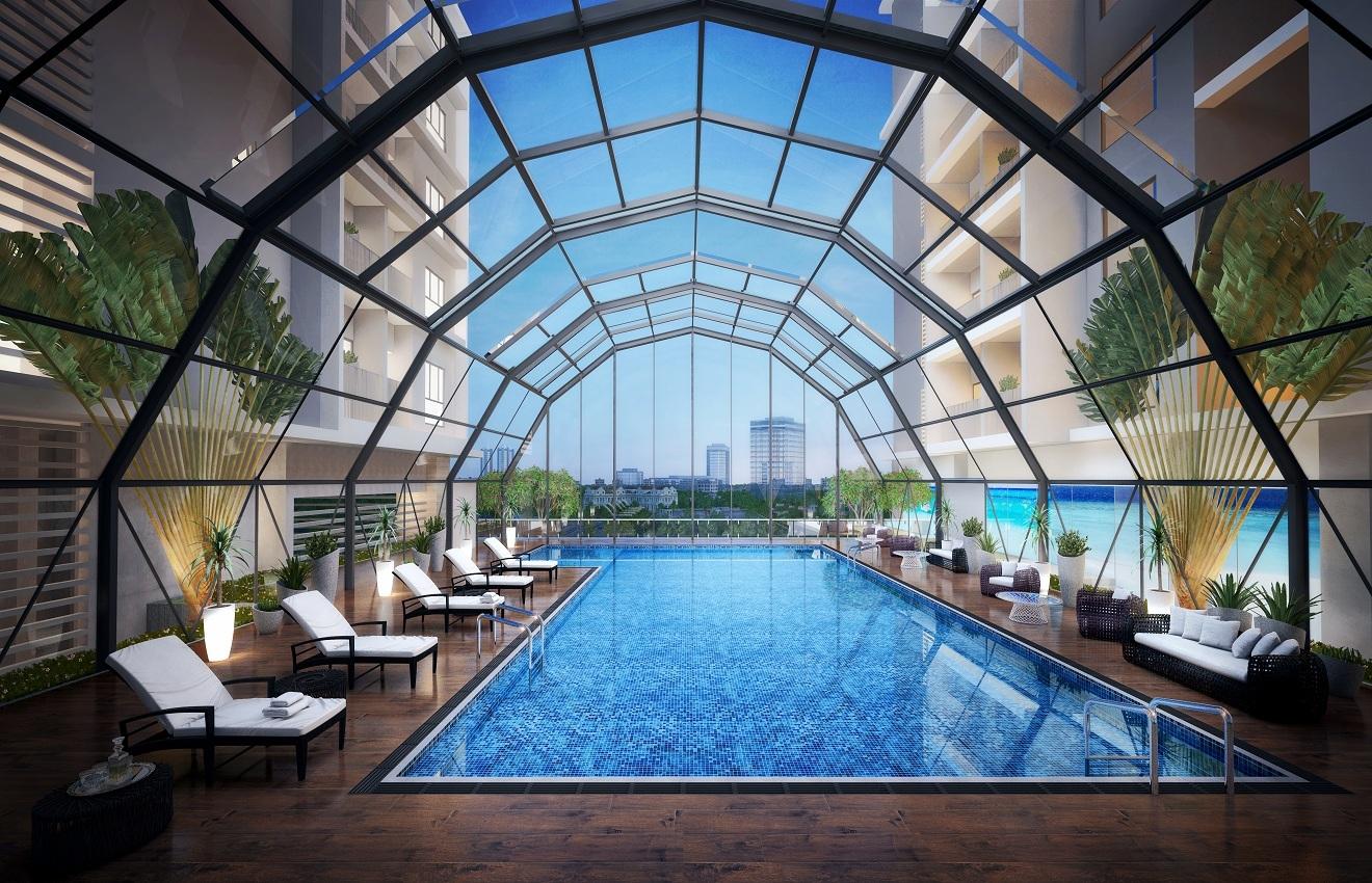 bể bơi dự án sky park residence