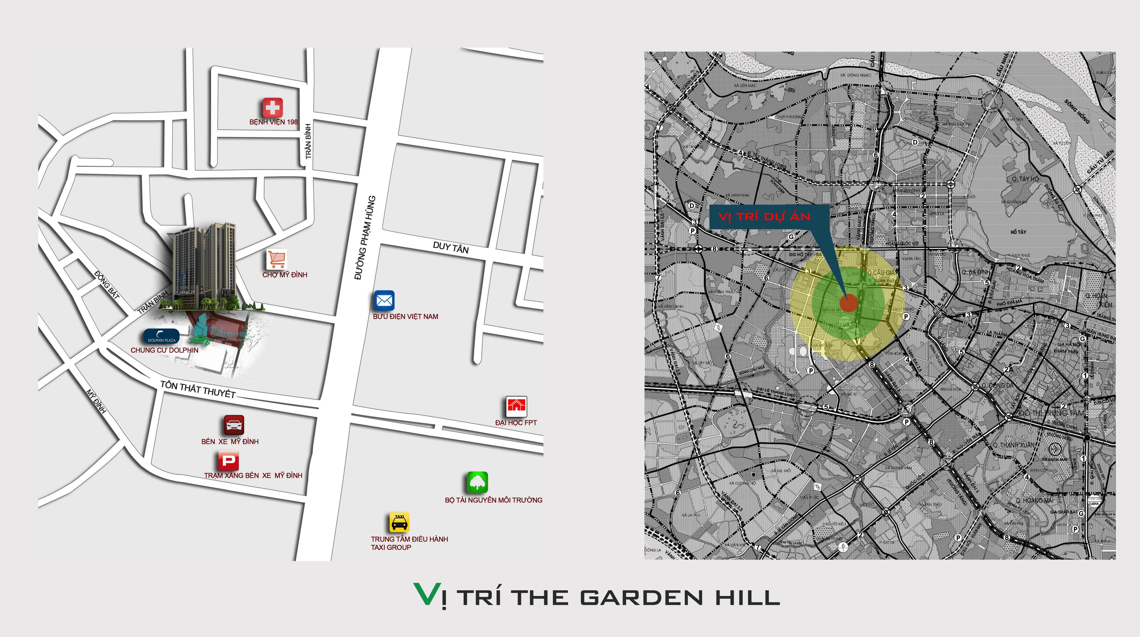 vị trí chung cư the garden hill