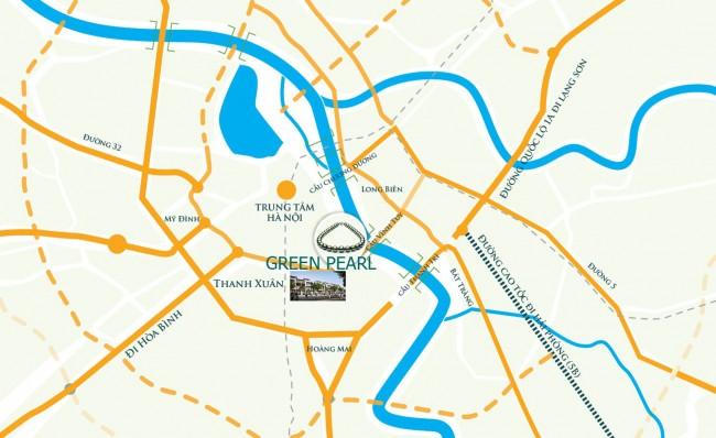 vị trí dự án green pearl
