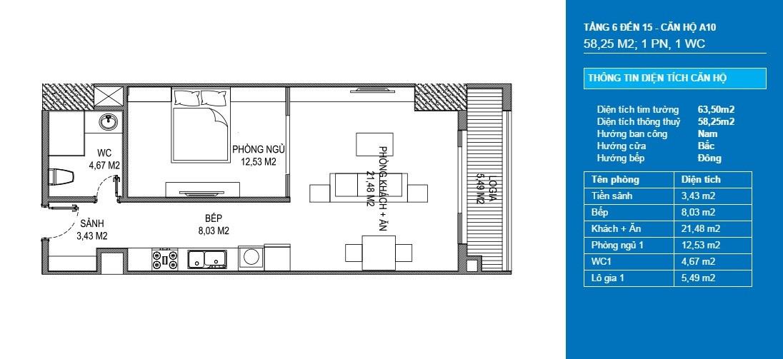 căn hộ a10 officetel chung cư sunshine center