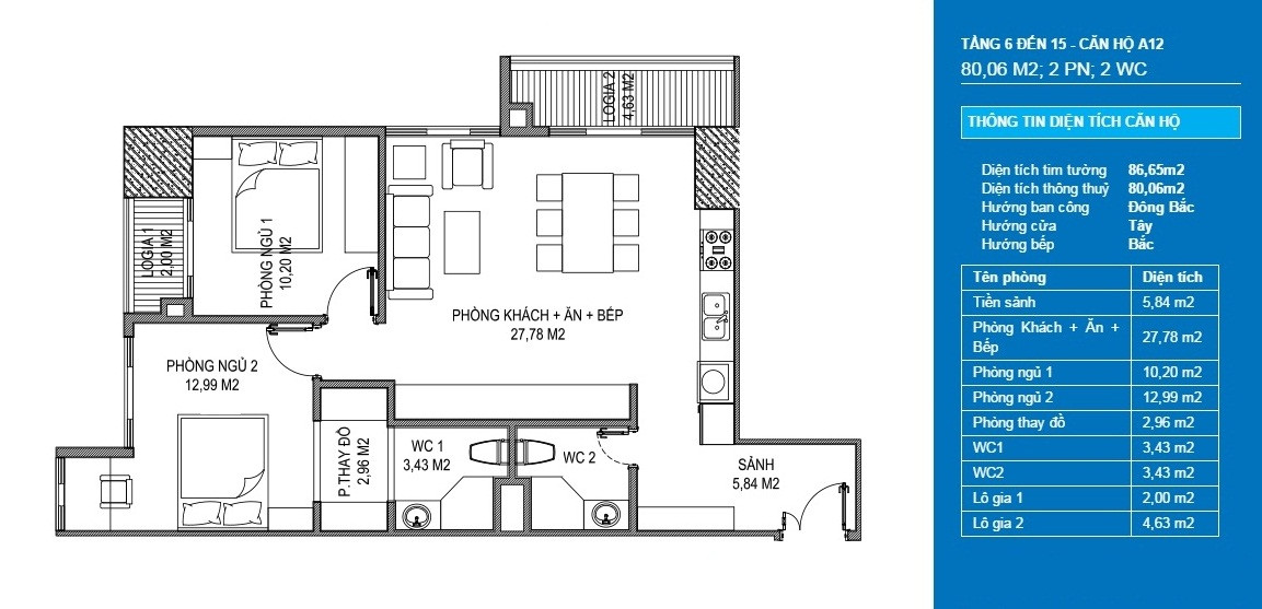 căn hộ a12 officetel chung cư sunshine center