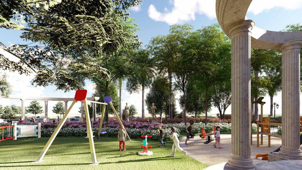 khu vui chơi trẻ em dự án roman plaza