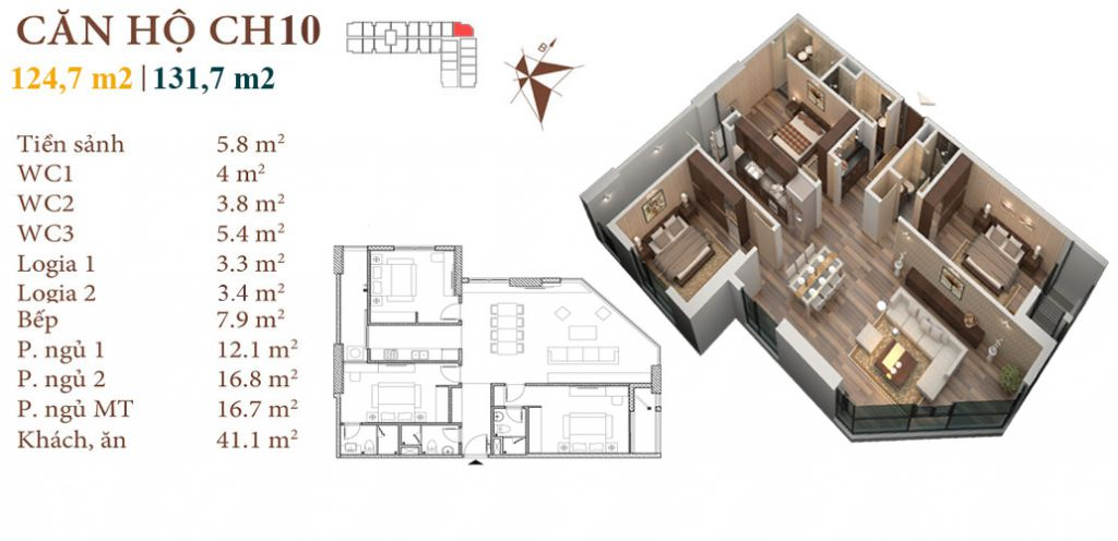 thiết kế chung cư roman plaza căn hộ ch10