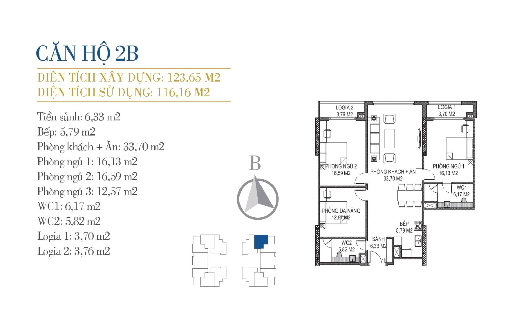 thiết kế căn hộ 2b chung cư sunshine center