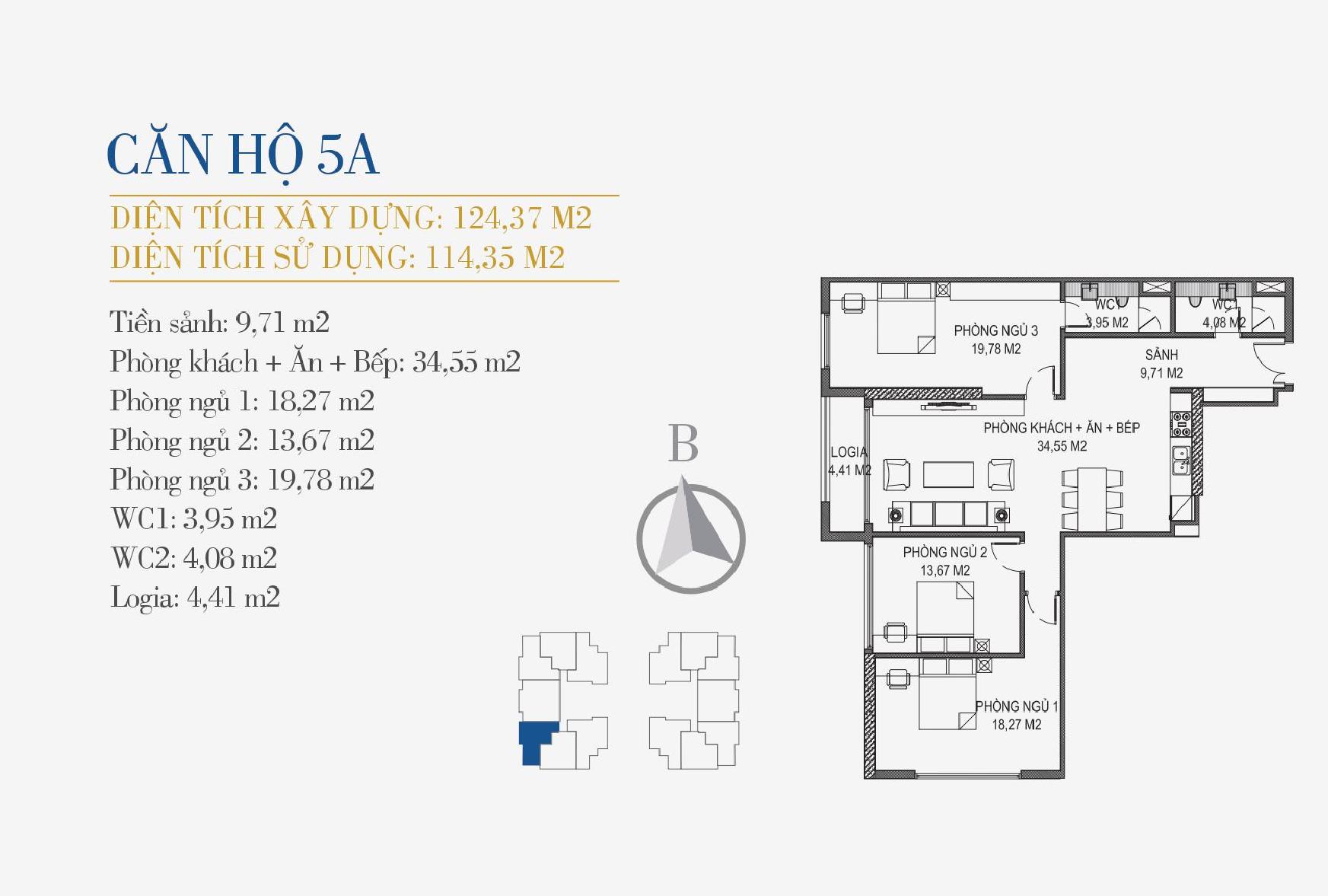 thiết kế căn hộ 5a chung cư sunshine center