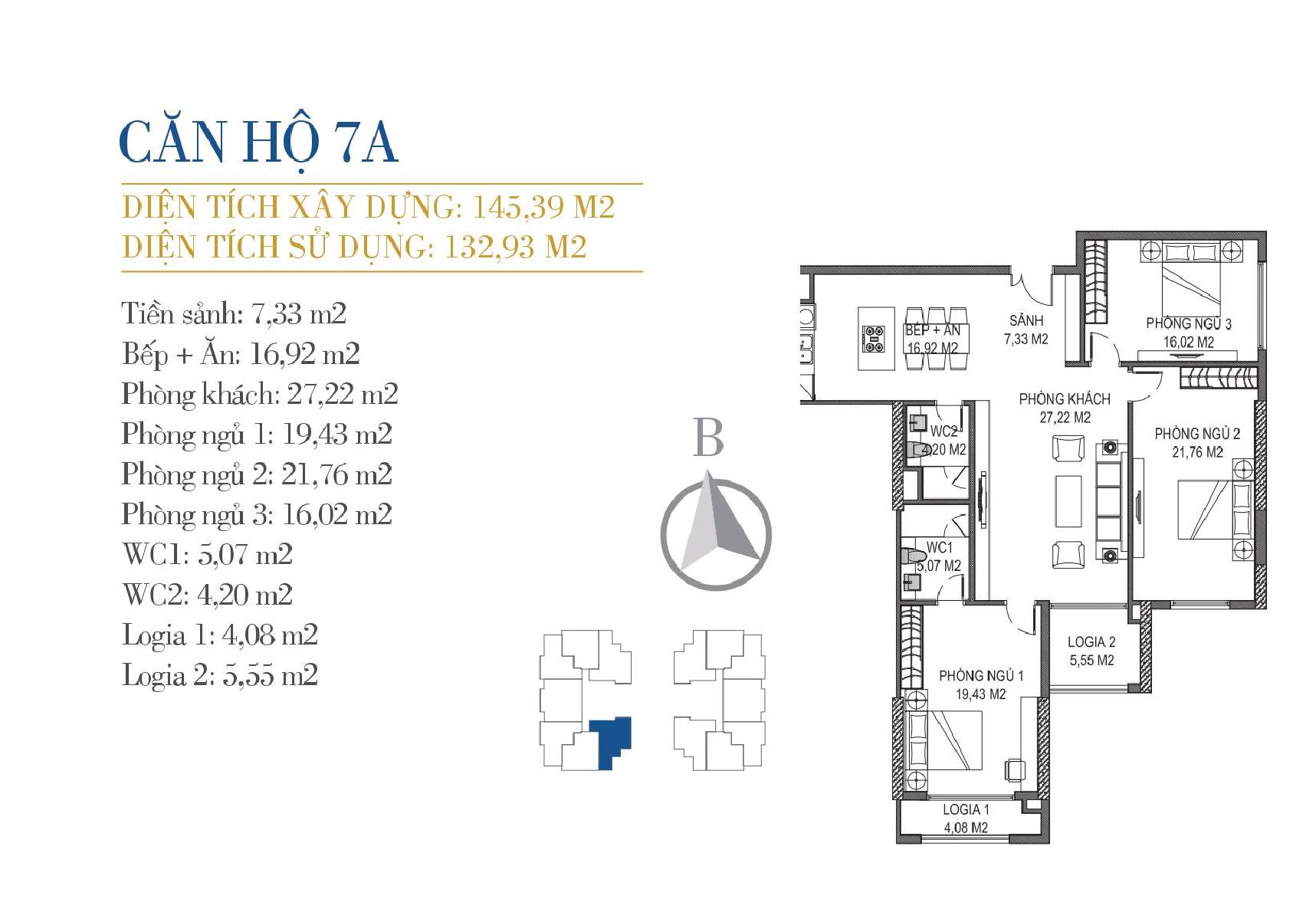 thiết kế căn hộ 7a chung cư sunshine center