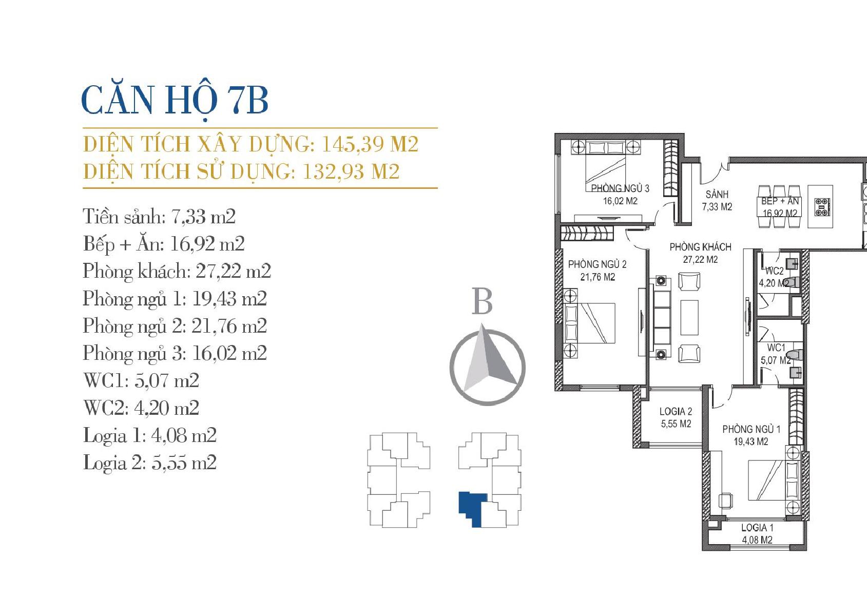 thiết kế căn hộ 7b chung cư sunshine center