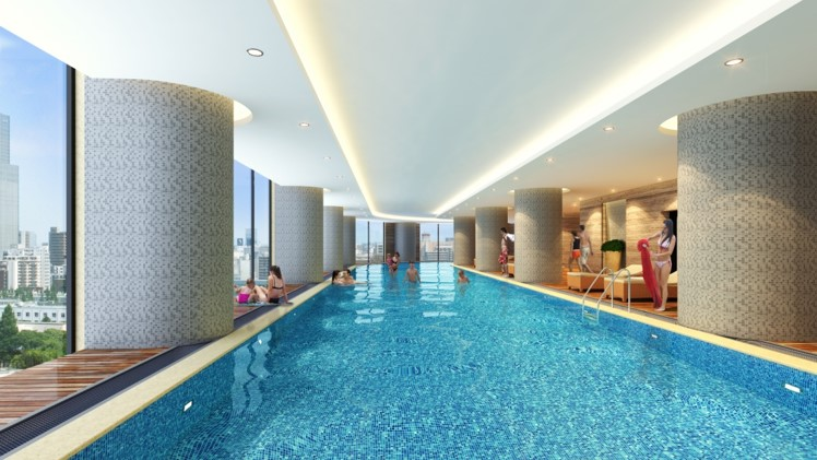 bể bơi bốn mua dự án VC2 Golden Heart