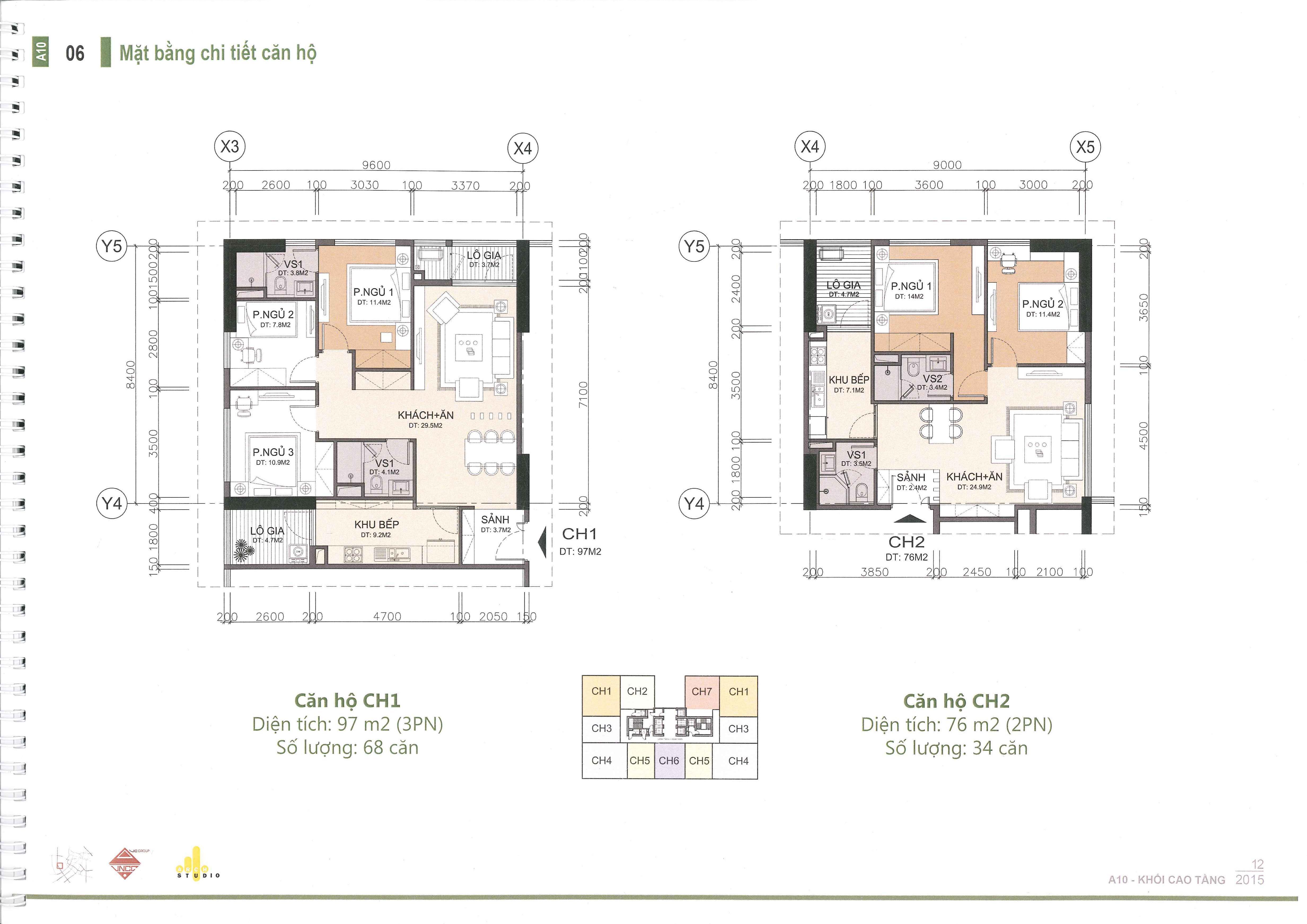 thiết kế căn hộ a10 nam trung yên ch1 và ch2