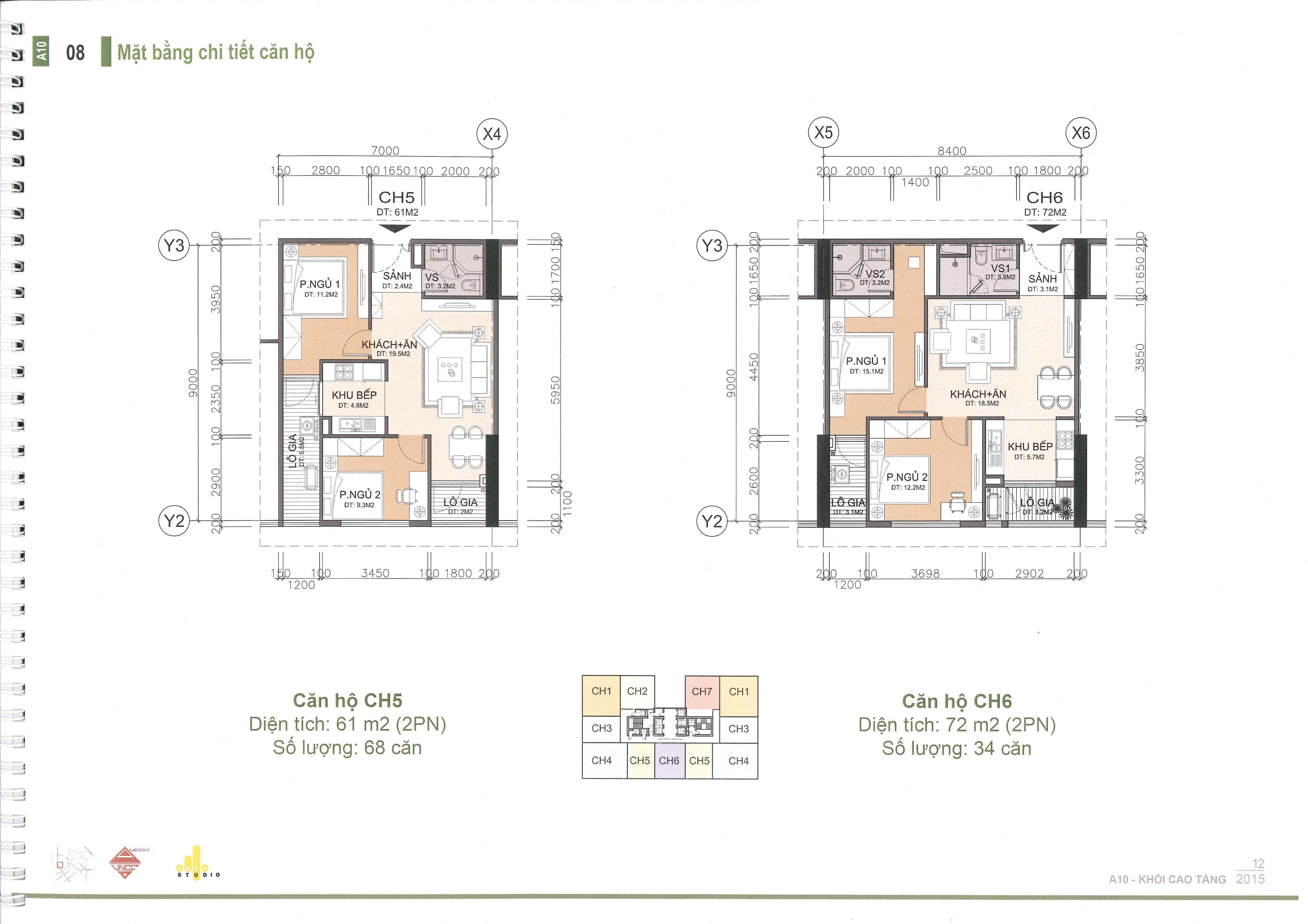 thiết kế căn hộ a10 nam trung yên căn ch5 và ch6