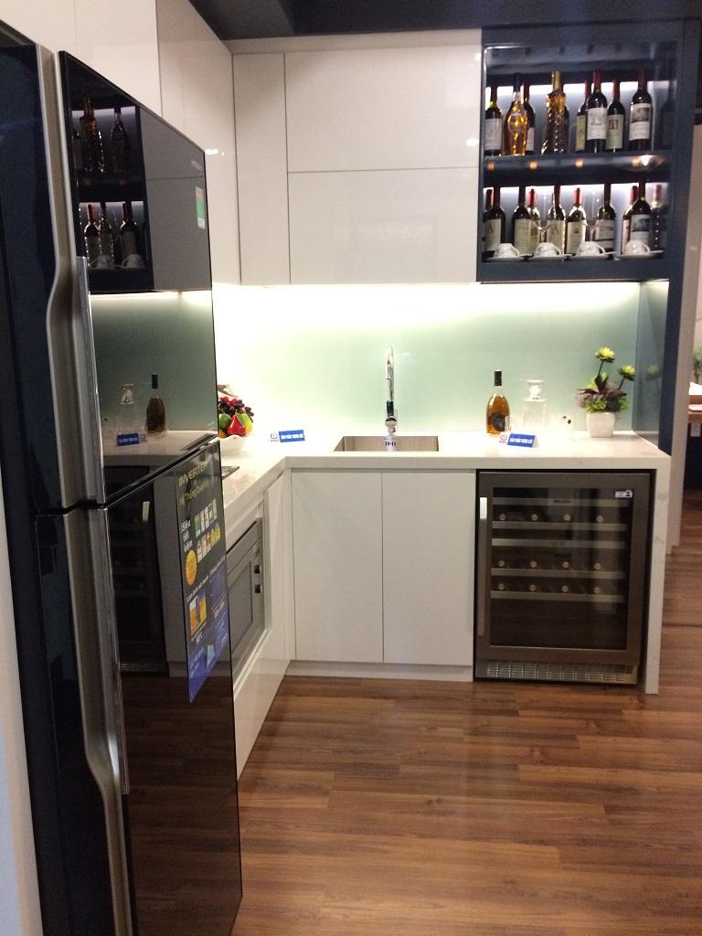phòng bếp căn hộ mẫu chung cư mỹ đình plaza 2