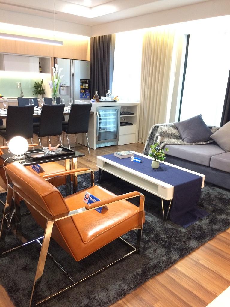 phòng khách căn hộ mẫu chung cư mỹ đình plaza 2