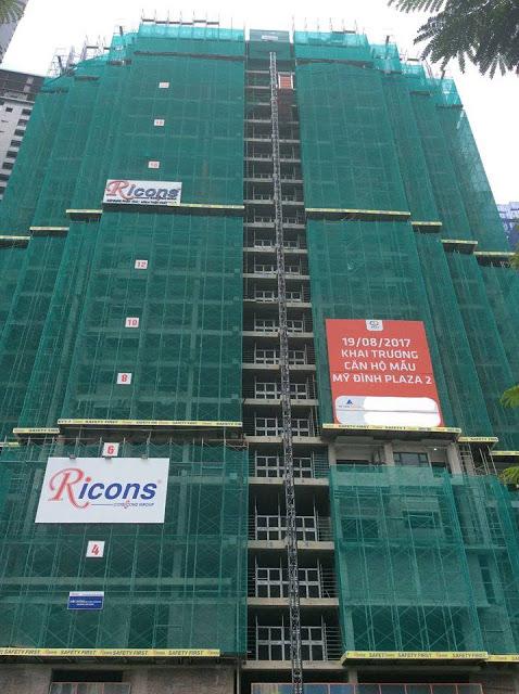 tiến độ dự án chung cư mỹ đình plaza 2