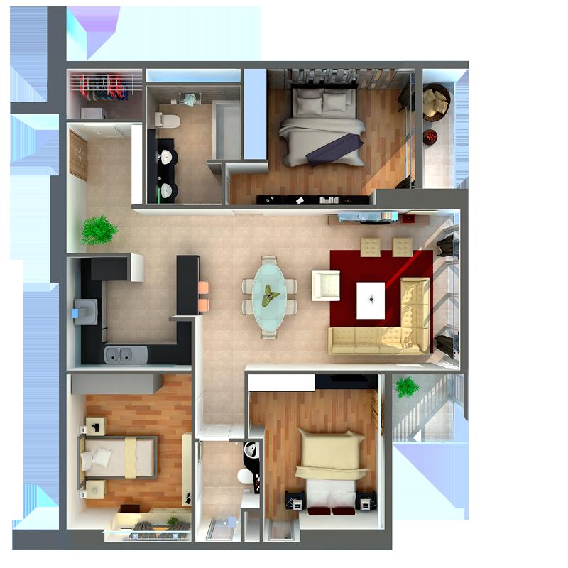 thiết kế căn hộ chung cư n08 giang biên
