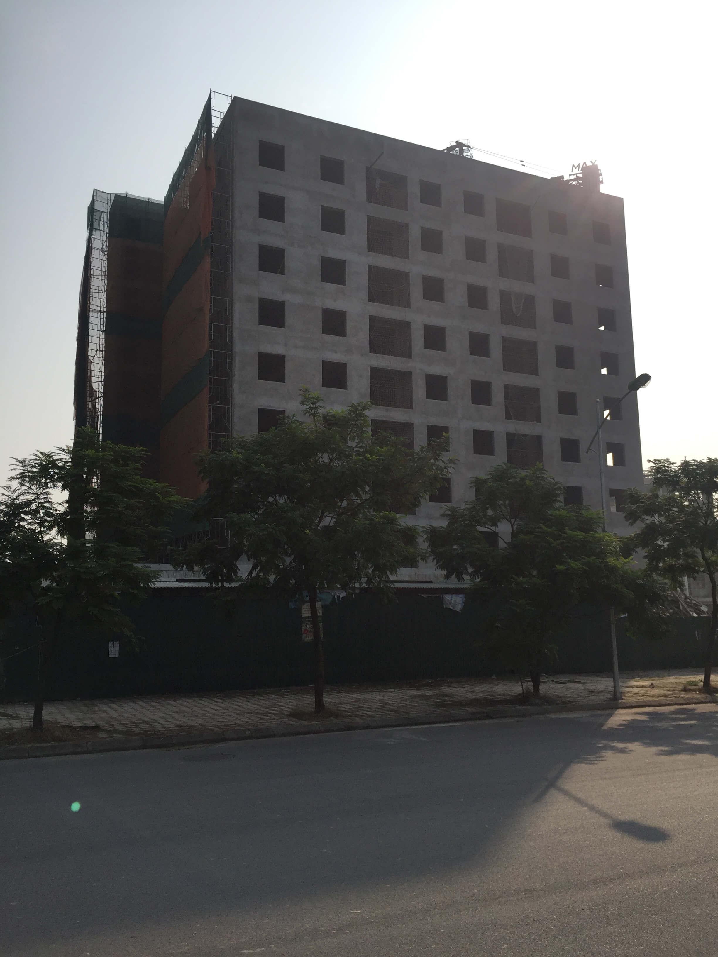 tiến độ xây dựng chung cư no-08 giang biên 1