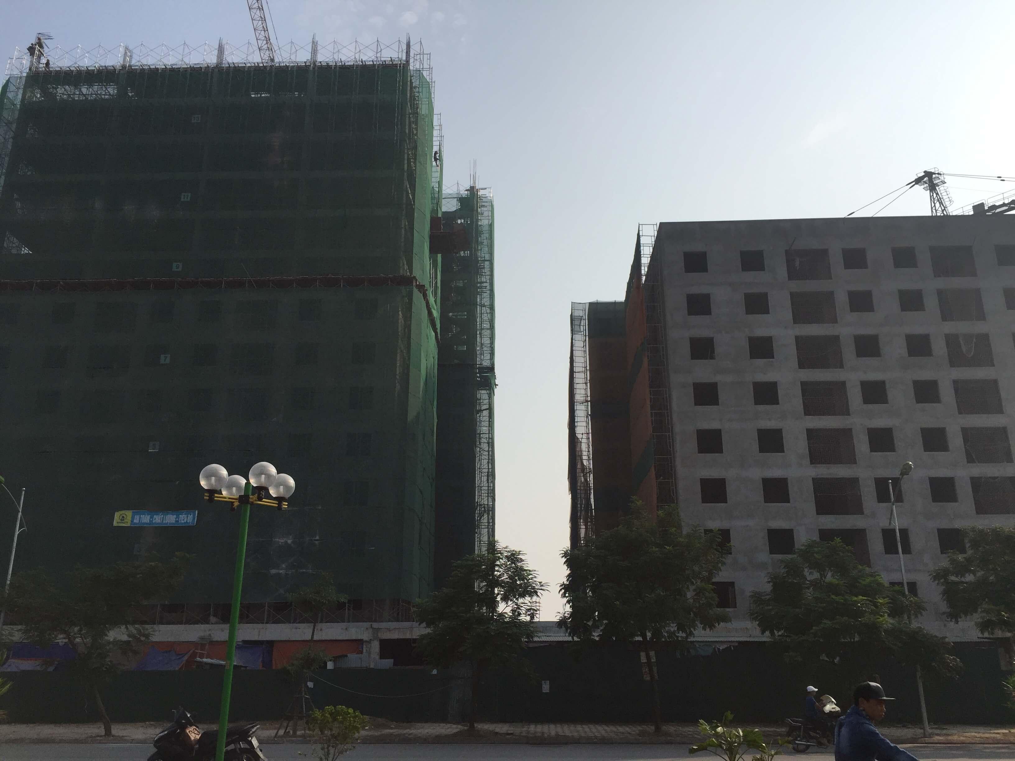 tiến độ xây dựng chung cư no-08 giang biên 2