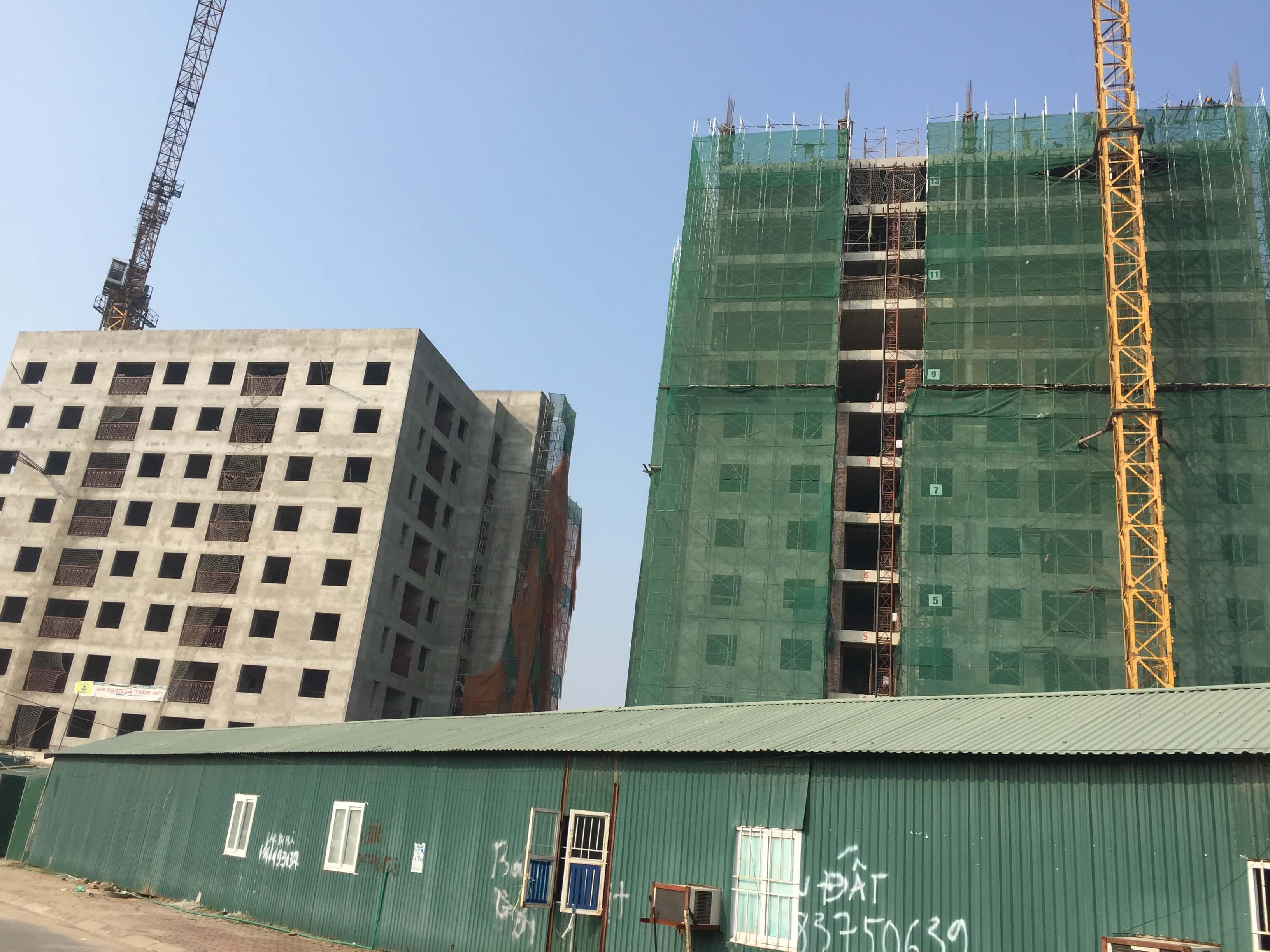 tiến độ xây dựng chung cư no-08 giang biên 3
