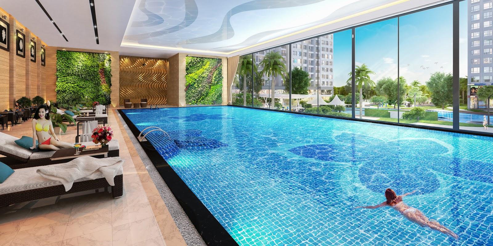 bể bơi bốn mua chung cư minh khai city plaza