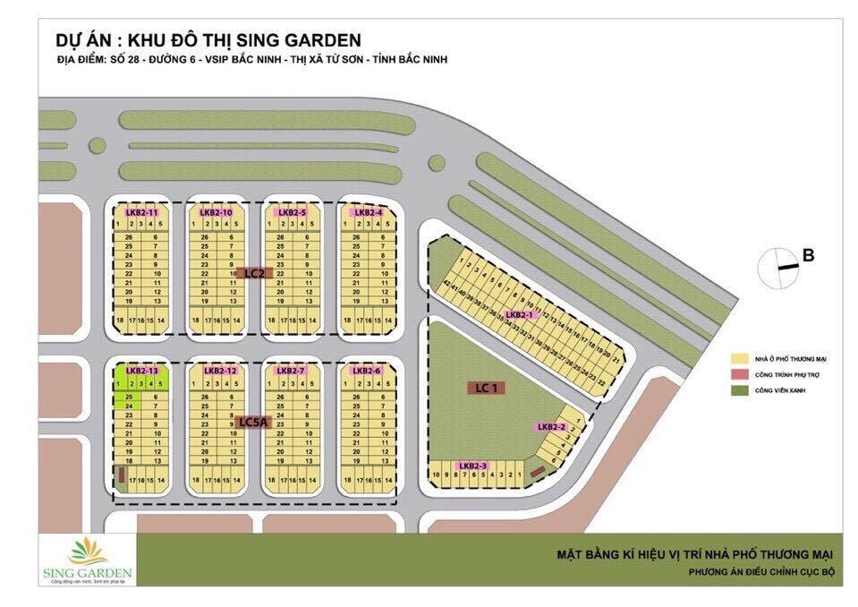 quy hoạch khu đô thị sing garden