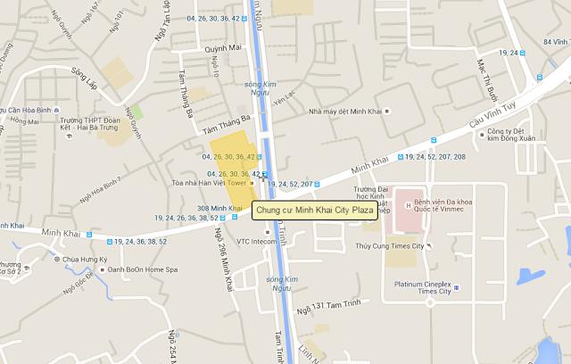 vị trí chung cư minh khai city plaza