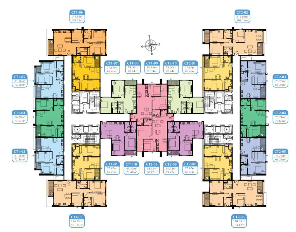 mặt bằng cho thuê chung cư mỹ đình plaza 2