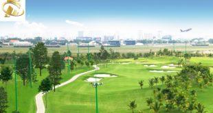 ngắm sân golf long biên từ hc golden city