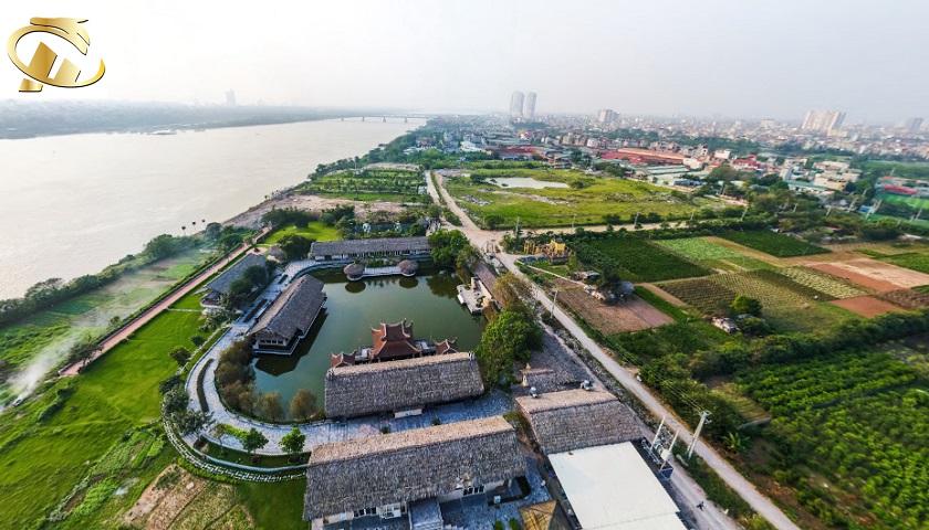 ngắm nhìn sông hồng từ hc golden city