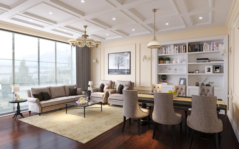 phòng khách chung cư iris garden