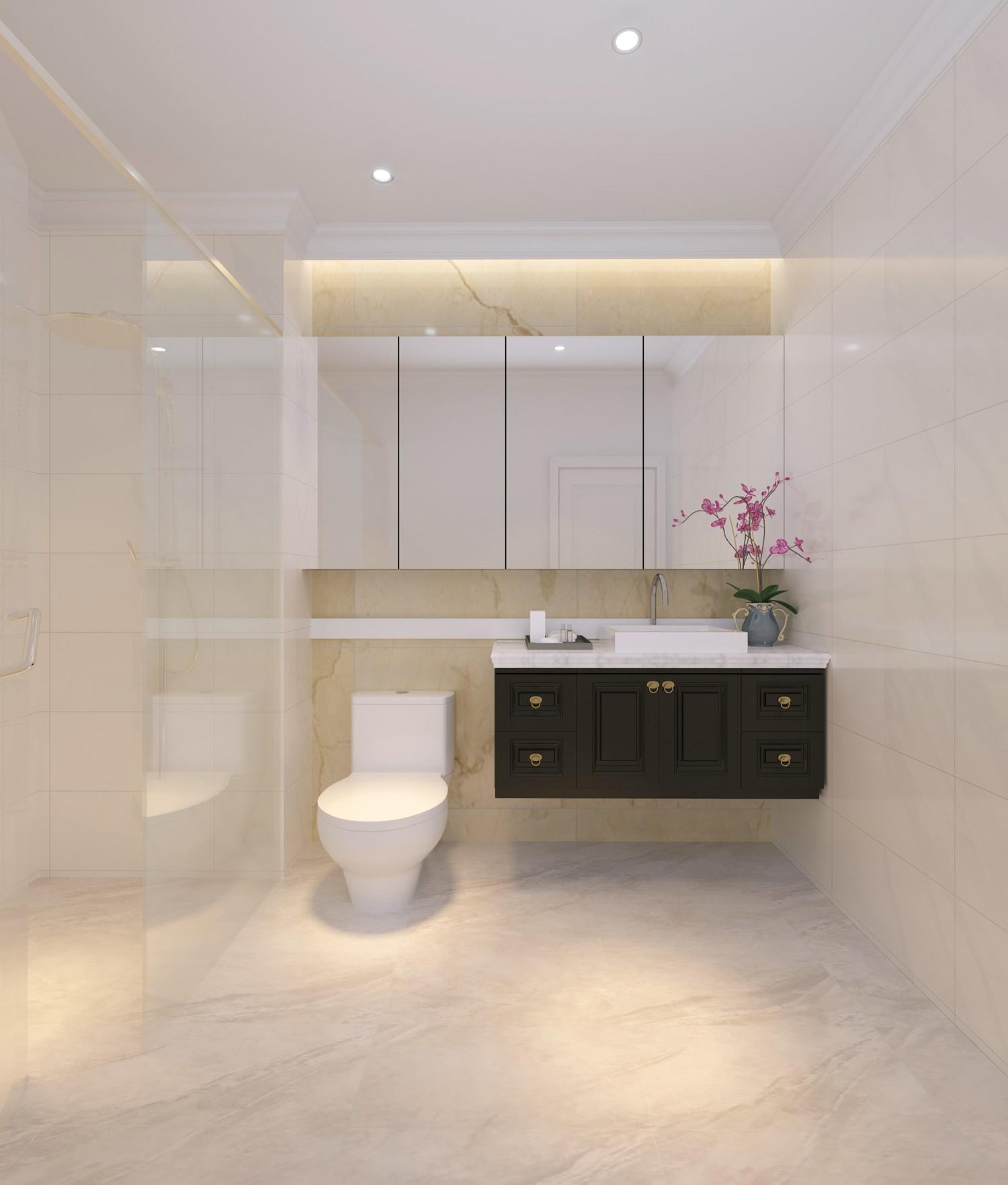 phòng vệ sinh chung cư iris garden