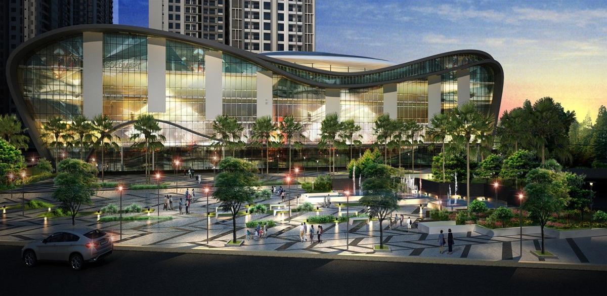 quảng trường ánh sáng dự án goldmark city