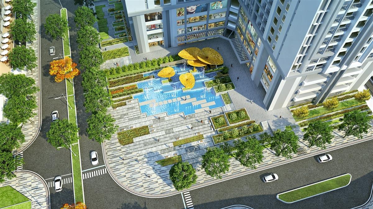 quảng trường nước dự án goldmark city