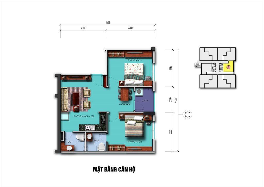 thiết kế căn hộ n08 giang biên