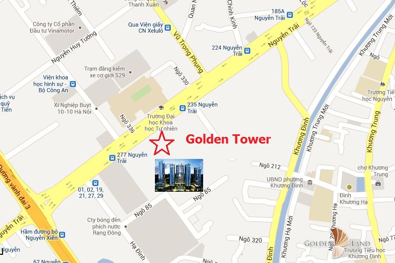 vị trí chung cư gold tower