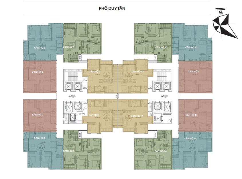 mặt bằng chung cư dreamland bonanza tầng 22-31