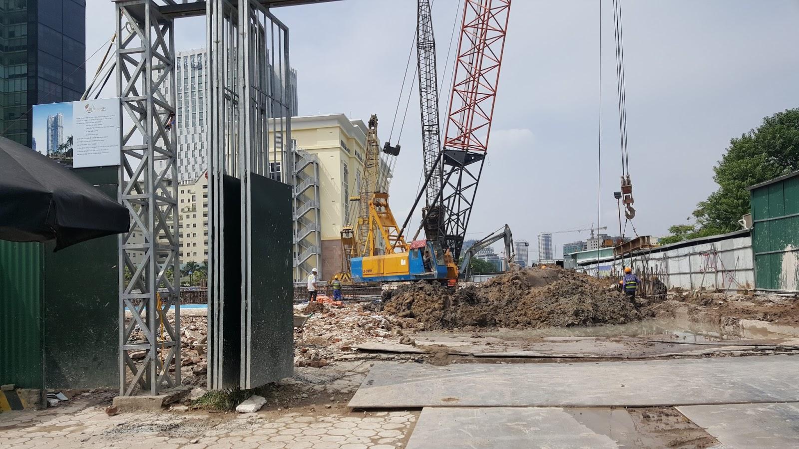tiến độ xây dựng chung cư golden park tower