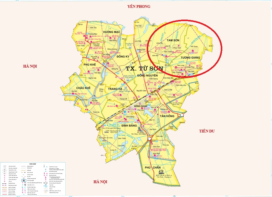 vị trí khu đô thị tam sơn tương giang