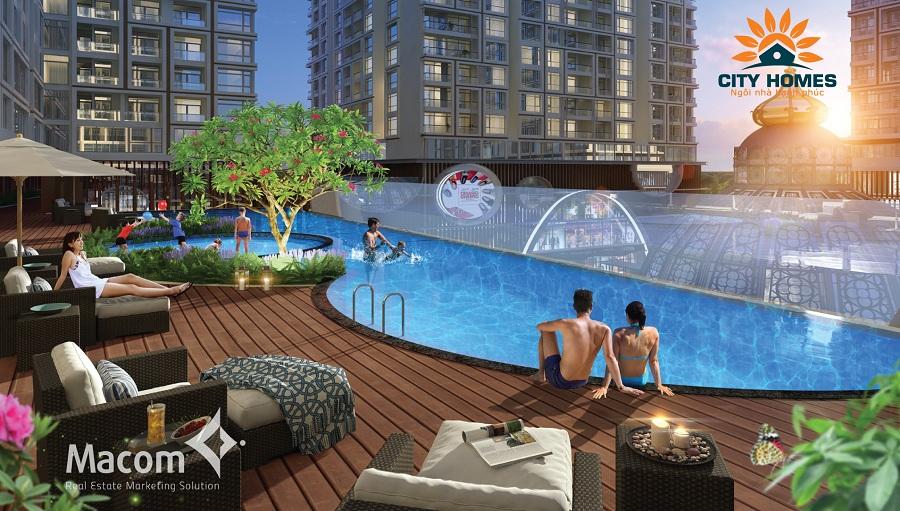 bể bơi chung cư hinode city