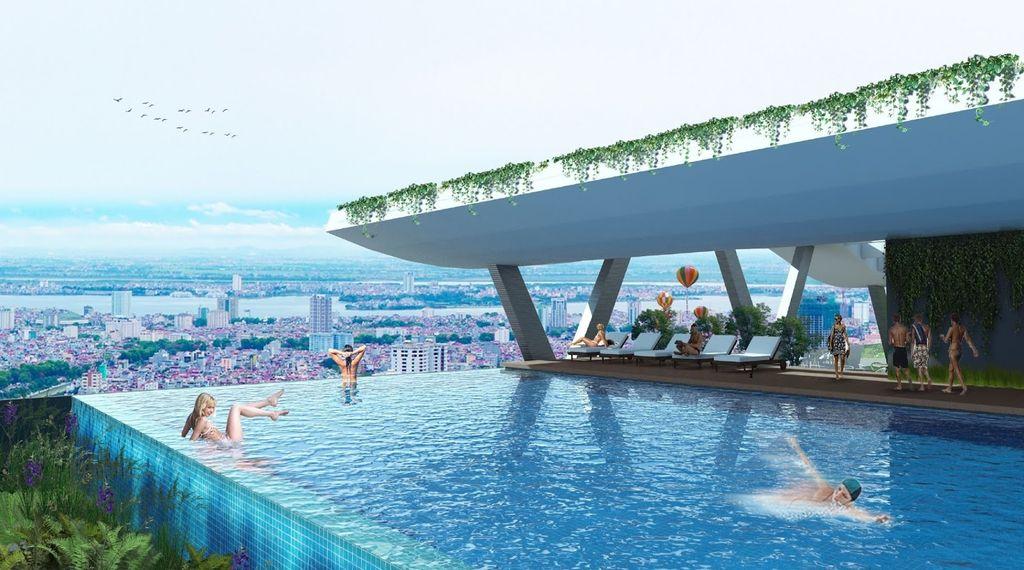 bể bơi vô cực grandeur palace