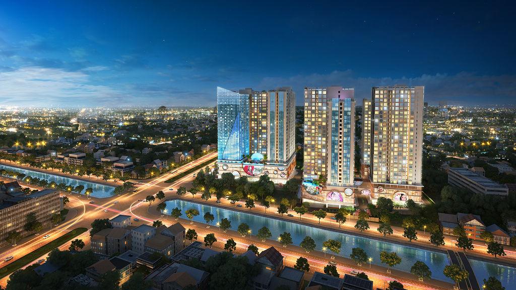 phối cảnh dự án chung cư hinode city
