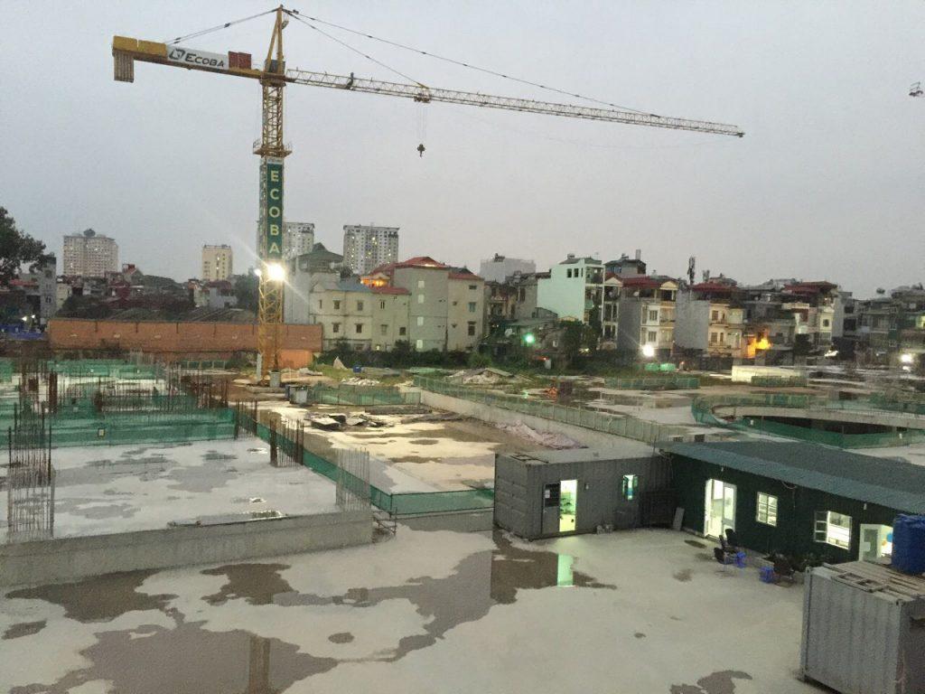 tiến độ xây dựng dự án chung cư hinode city