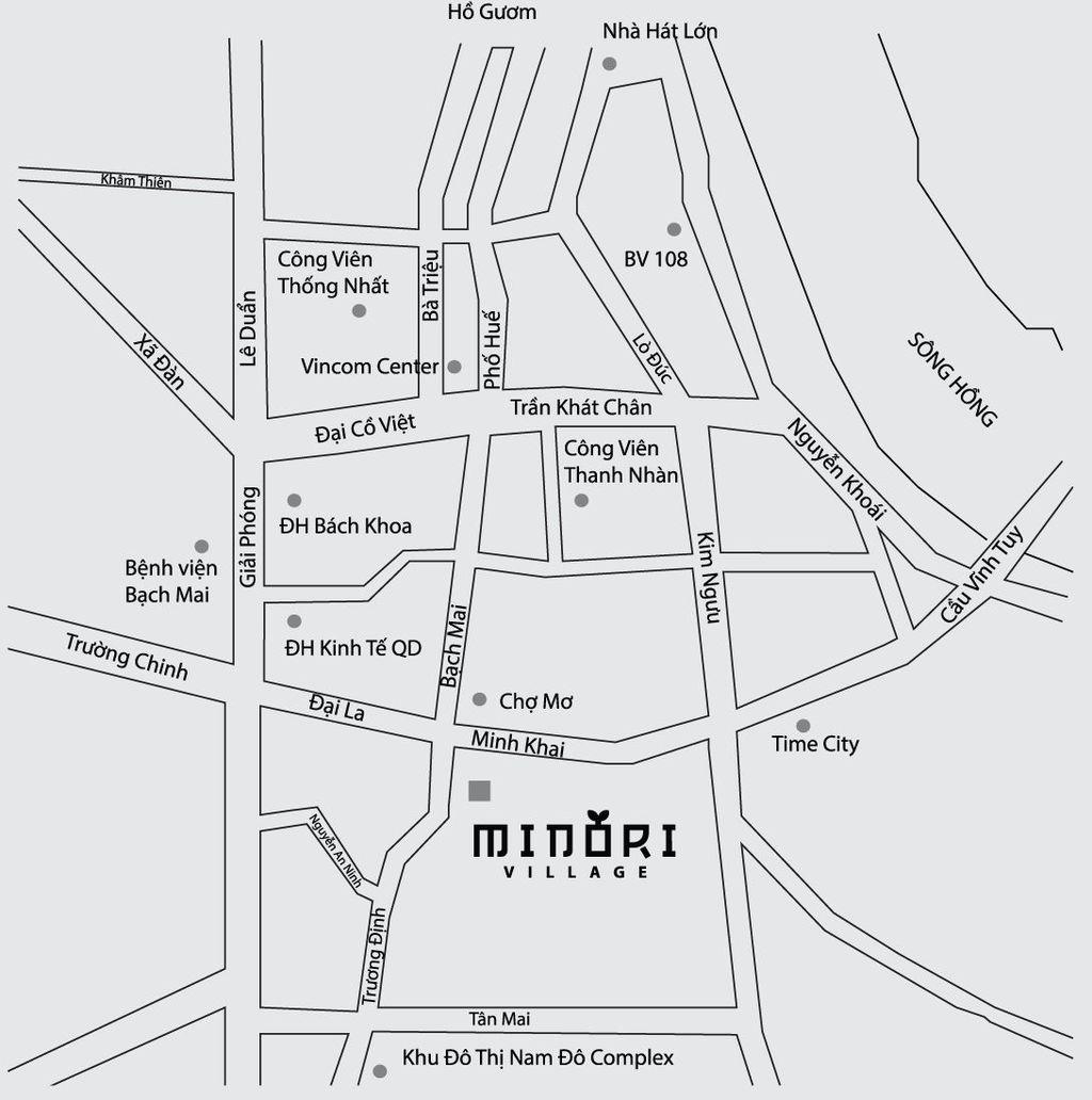 vị trí dự án minori village