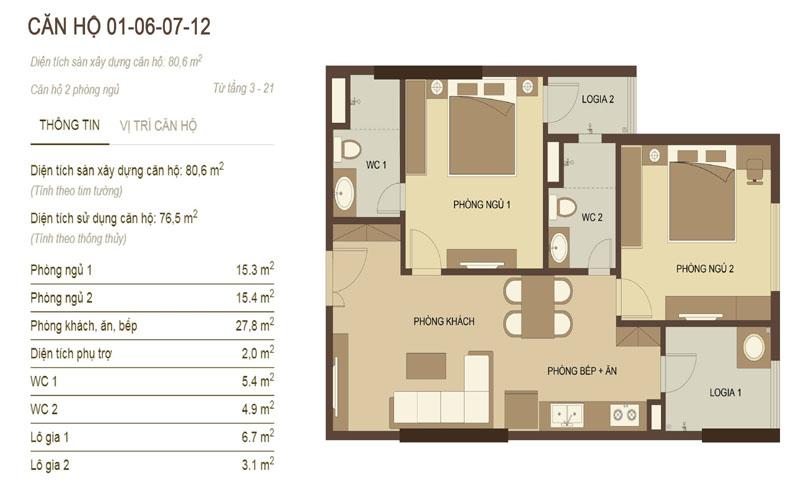 thiết kế căn hộ 1,6,7,12 chung cư hòa phát 70 nguyễn đức cảnh