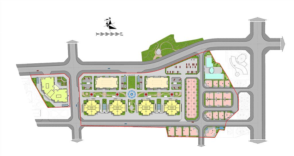 mặt bằng tổng thể dự án mipec city view kiến hưng